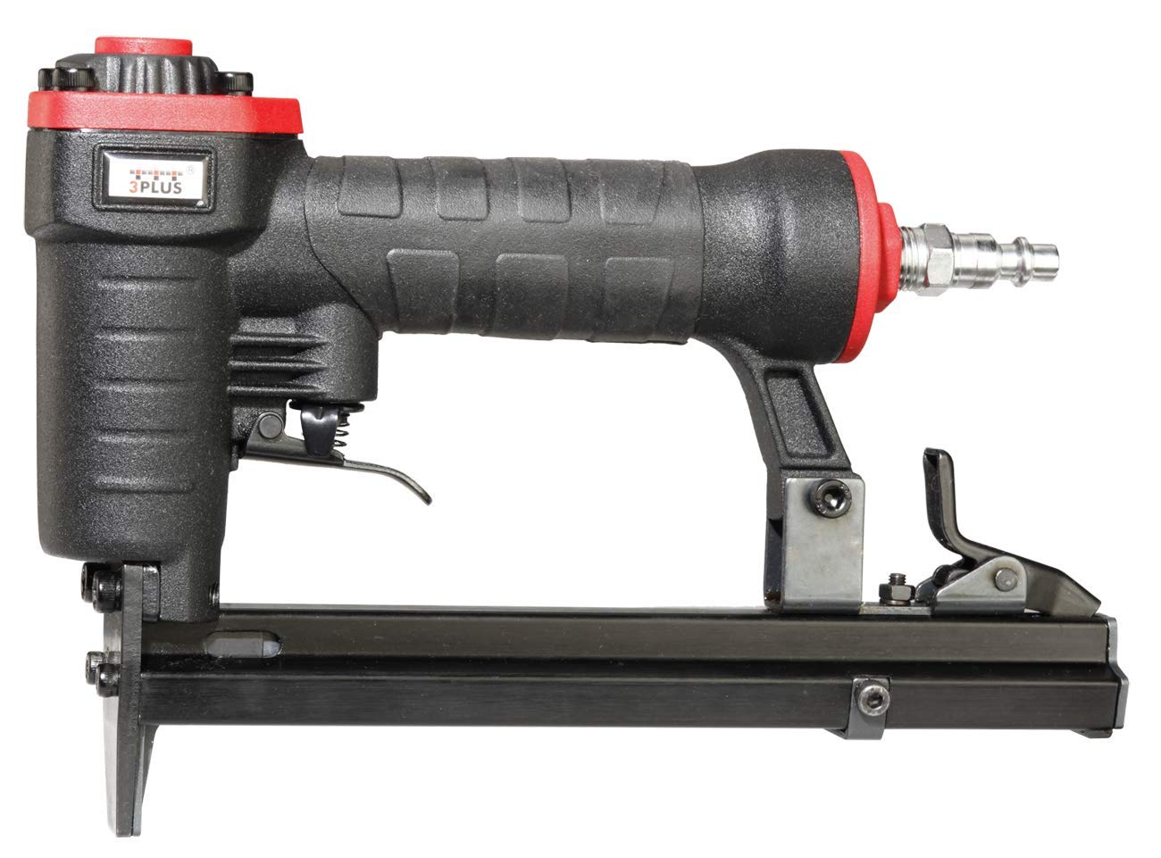 3PLUS H7116SP 22 Gauge 3/8-Inch Crown Pneumatic Upholstery Stapler, 1/4-Inch to 5/8-Inch by 3PLUS