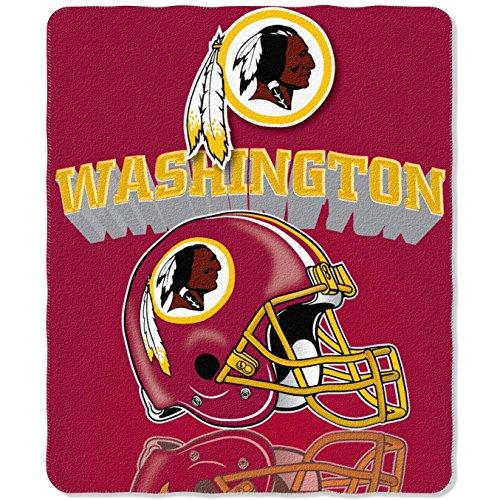 NFL Washington Redskins Gridiron Fleece Throw, 50-inches x 60-inches