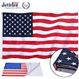 Jetlifee American Flag 2.5x4 Ft Embroidered Stars, Sewn Stripes, Brass Grommets US Flag Decorations, Outdoors Indoors…