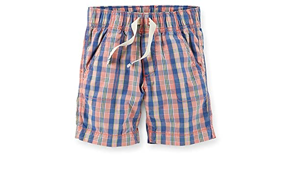 e174de057 Amazon.com  Carter s Boy s Pull-On Plaid Poplin Shorts