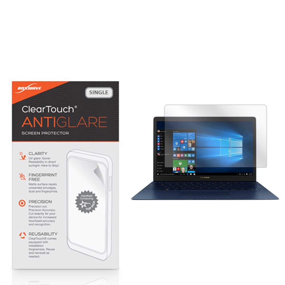 ASUS ZenBook 3 (UX390UA) Screen Protector, BoxWave [ClearTouch Anti-Glare] Anti-Fingerprint, Scratch Proof Matte Film Shield for ASUS ZenBook 3 (UX390UA)