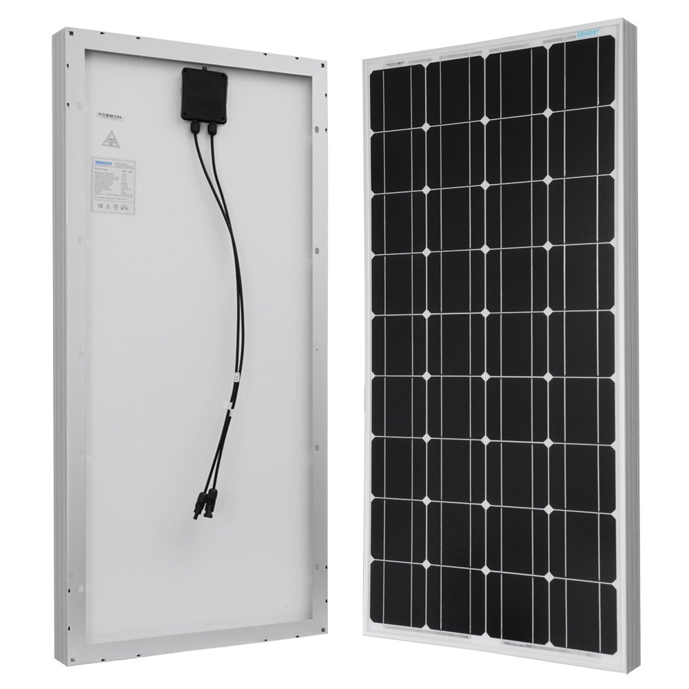 Renogy 200 Watts 12 Volts Monocrystalline Solar Bundle Kit w 100w Solar Panel,30A Charge Controller,9in MC4 Adaptor Kit,A pair of Branch Connectors