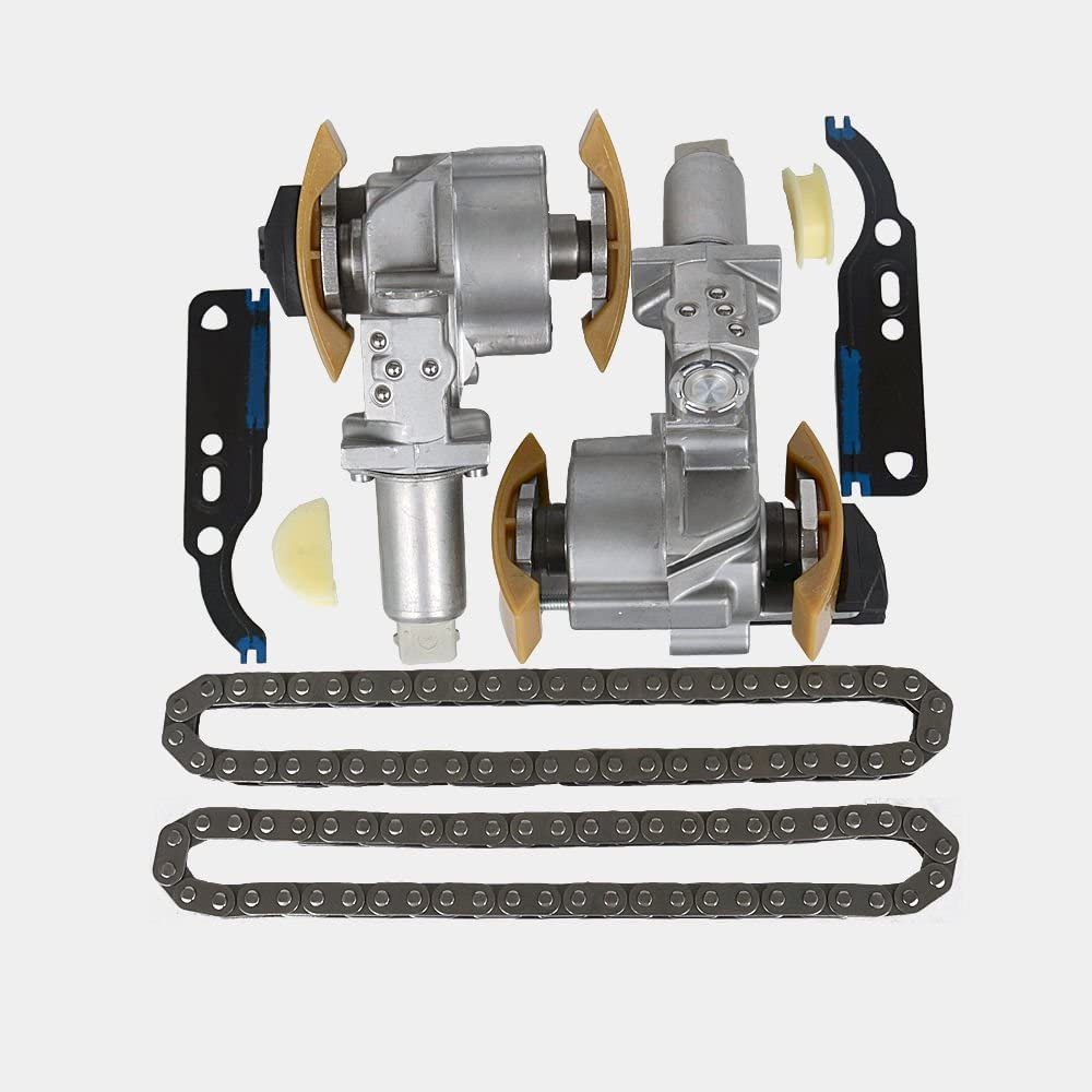 Pair Timing Chain Tensioner Kit With gasket 078109087B for VW Passat Audi A4 A6 2.4 2.7 2.8 V6