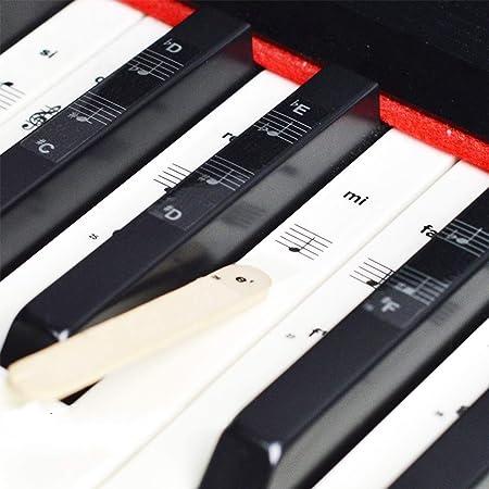 O³ Pegatinas Teclado Piano Para Piano 36/54/61/76/88 Teclas - Pegatinas Piano Para Teclas Blancas y Negras - Teclados Piano Pegatinas - Teclado Piano ...