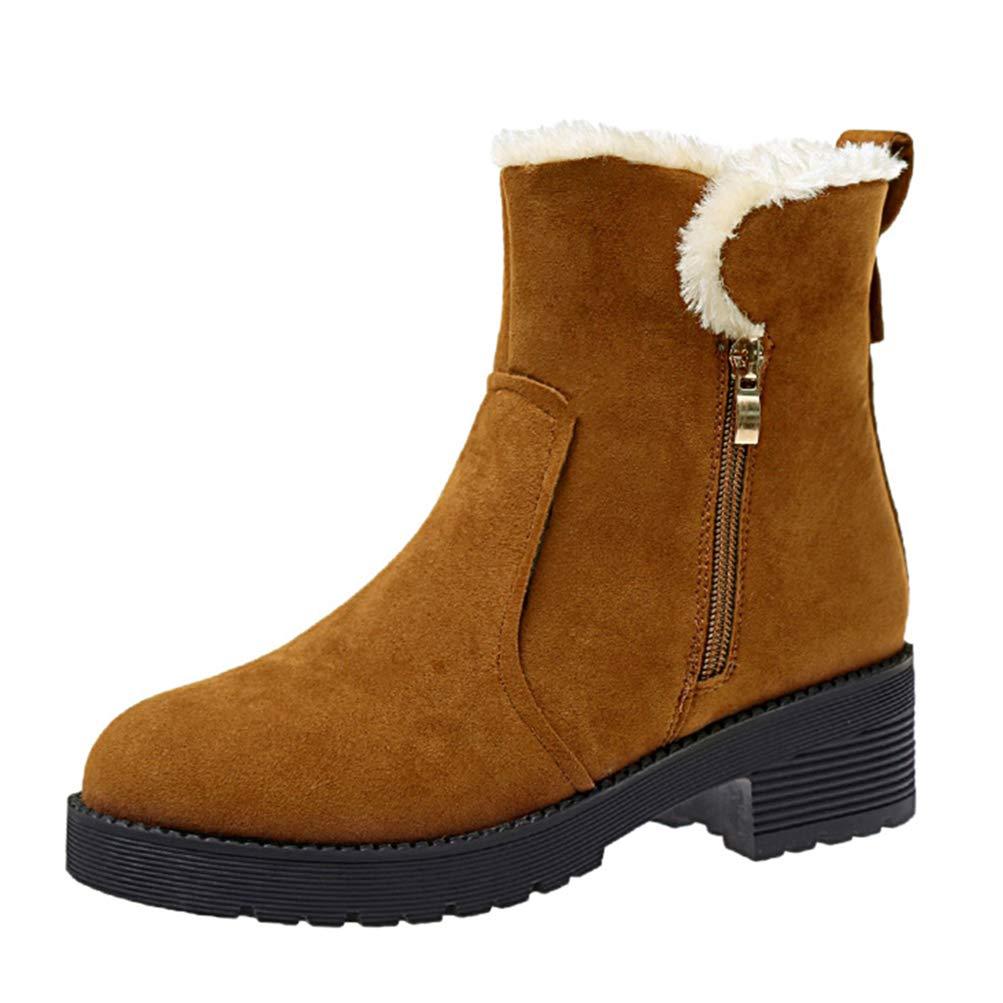 Stivali da da da Neve Donna Inverno Caldo Confortevole Confortevole Traspirante Piatto Scarpe Casual Fondo Spesso per La Strada della Moda 8273b6