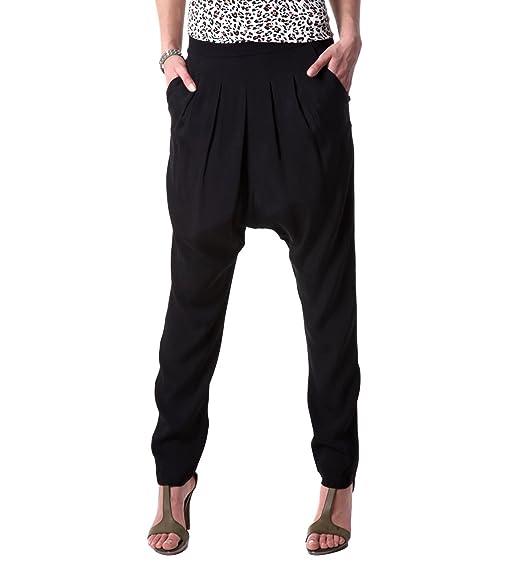 Promod Pantalon sarouel femme Noir 38 Amazon.fr Vêtements et accessoires