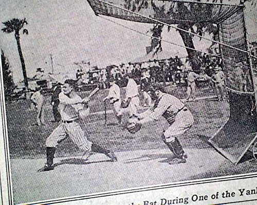 Rare LOU GEHRIG Batting at Spring Training in Florida PHOTO 1929 NYC Newspaper THE NEW YORK TIMES, sport's section only, March 3, 1929