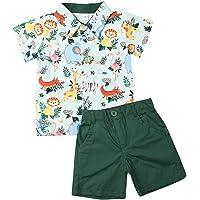KisBaBies Toddler Baby Boy Short Sleeve Shirt Tops Short Pants Outfit Summer Beach 2pcs Clothes Set
