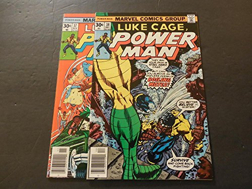 2 Iss Luke Cage Power Man #37-38 Nov-Dec 1976 Bronze Age Marvel Comics