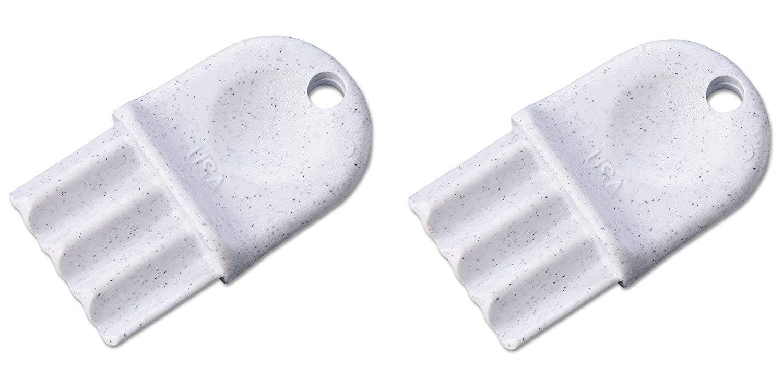 San Jamar N16 Key for Plastic Tissue Dispenser R2000, R4000, R4500 R6500, R3000, R3600, T1790, White (2-(Pack))