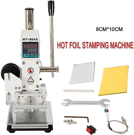 Manual Digital Hot Stamping Machine for Branding Wood Paper Embossing Leather PU