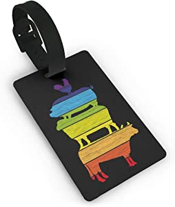 Friends Not Food Vegan Luggage Tag Cruise Travel ID Tags PVC For Bags Suitcases