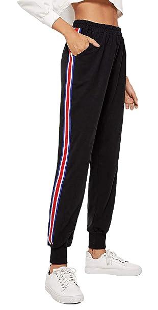 Huixin Pantalones Casuales De Las Mujeres De Primavera A Rayas ...