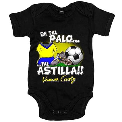Body bebé De tal palo tal astilla Cádiz fútbol - Negro, 12-18 meses