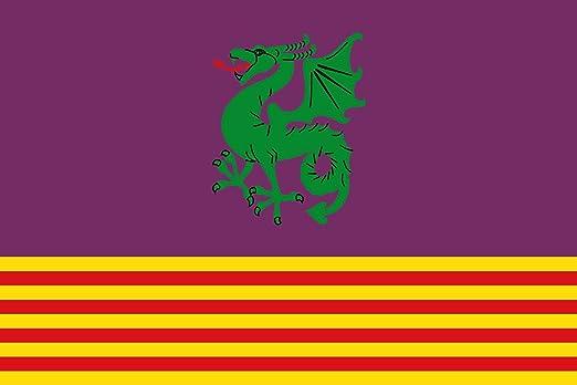 magFlags Bandera Large Santa Margarita y Monjós, Barcelona, España | Bandera Paisaje | 1.35m² | 90x150cm: Amazon.es: Jardín