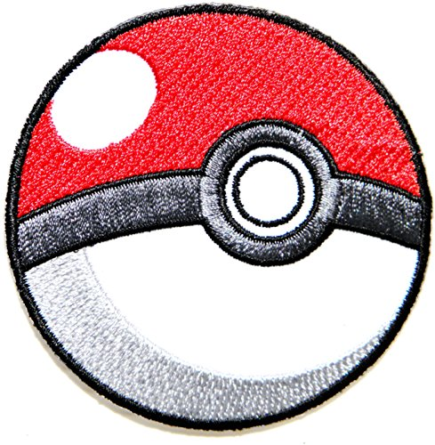 Pokeball Pokemon Cartoon Game Logo Girl Kid Baby Jacket T shirt Patch Sew Iron on Embroidered Symbol Badge Cloth Sign Costume By Prinya Shop -