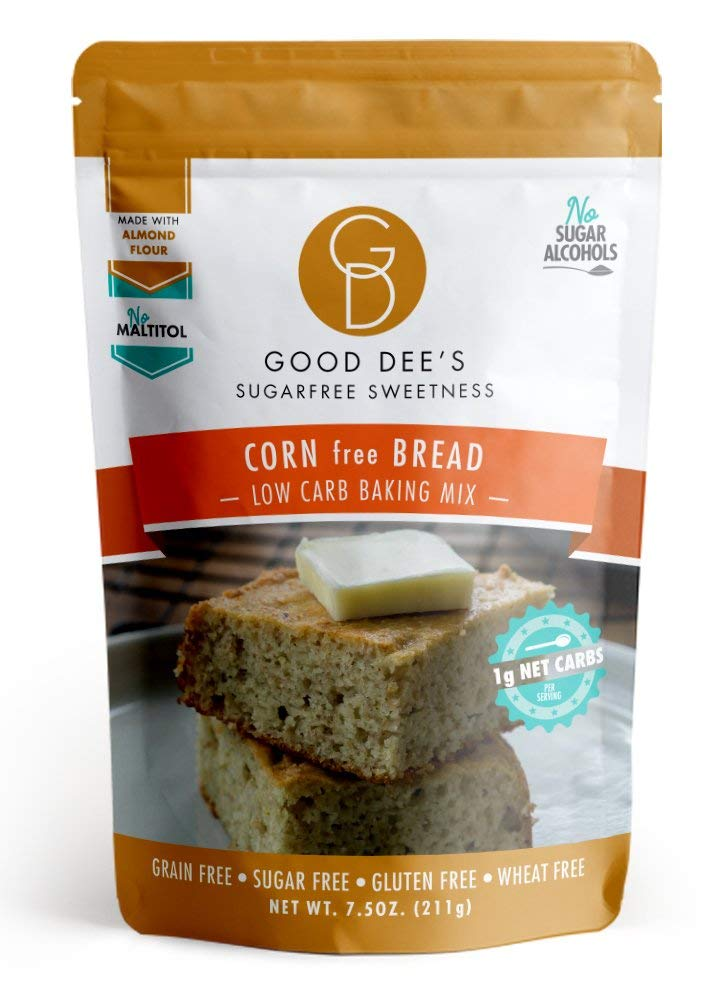 Good Dee's Corn Bread Baking Mix - Grain Free, Sugar Free, Gluten Free, Wheat Free, and Low Carb,7.5 Oz by Good Dee's