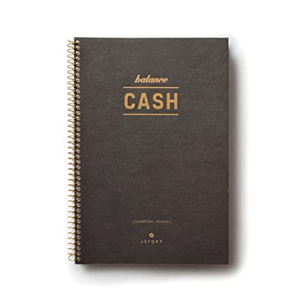 amazon com vintage style spiral cash book pocket style 48 sheets