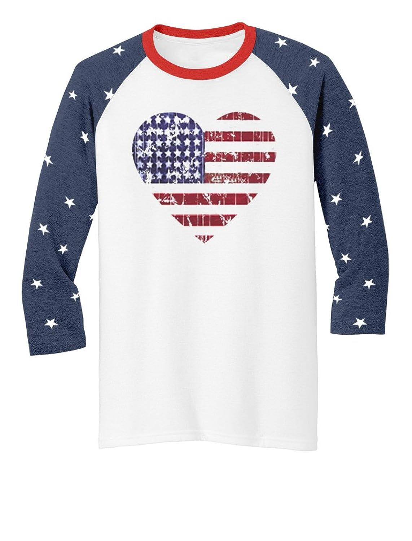 4th of July Americana Collection USA Flag 3/4 Sleeve Baseball Jersey Shirts