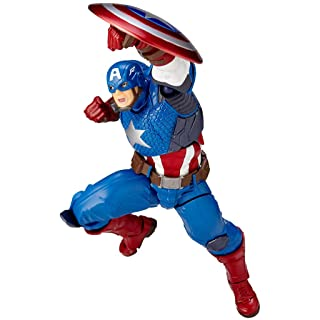 Anime Toys-SYDDP Anime Toy Model Avengers Alliance Union 3 Captain America Comic Edition Moveable Dolls Decoration Gift Collection Crafts, Car Decoration 16.5cm Anime Toy Characters