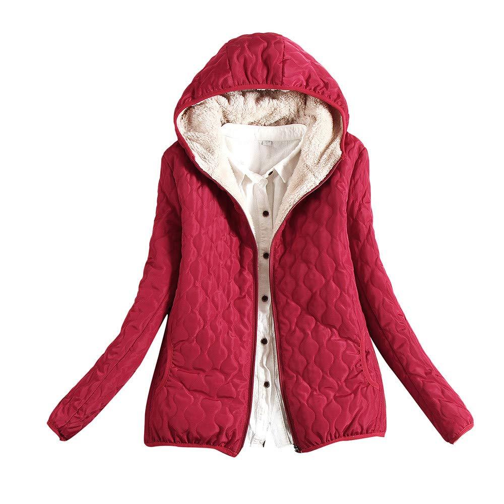 MEIbax Abrigos Mujer Invierno Chaqueta con Capucha de Abrigo cálido para Mujer Chaqueta Delgada de Invierno Outwear Abrigos