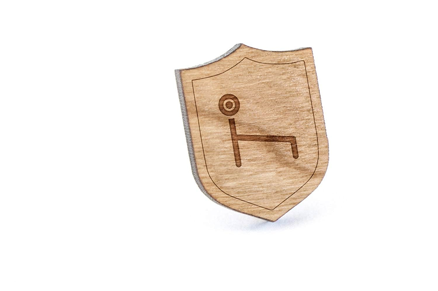 Workout Bench Lapel Pin Wooden Pin And Tie Tack Rustic