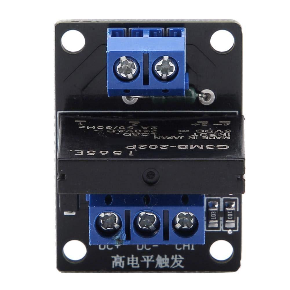 12V 12V Mode de D/éclenchement du Signal de Haut Niveau Module de Relais Statique /à 1 Canal 250V AC 2A avec Fusible 5V