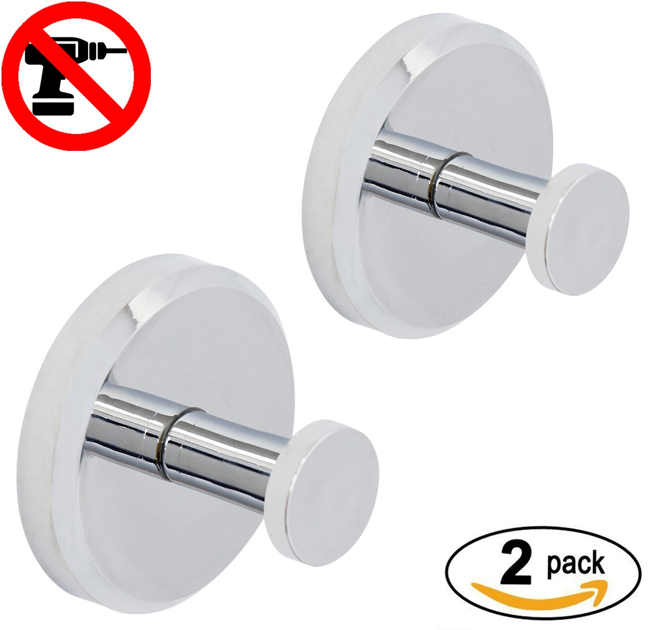 HOME SO Bathroom Hook with Suction Cup Holder - Removable Shower ...