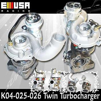 Turbocompresor para 99 – 04 Audi A6 Quattro 2.7L K04 Upgrade Twin Turbo motor 00