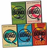 John Gardner James Bond 5 Books Collection Pack Set (Goldeneye, COLD, Death is Forever, Licence to Kill, Icebreaker)