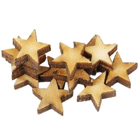 Stern Birkenrinde zum Streuen D 5 cm 10 Stück
