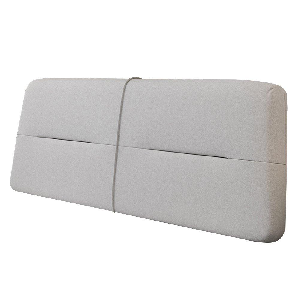 GXY Kissen Bett Kopfkissen Kopfteil Weiche Tasche Stoff Großer Rücken Tatami Bettdecke Einfach Modern Kissen (Farbe : Helles Khaki, größe : 150x10x60cm)