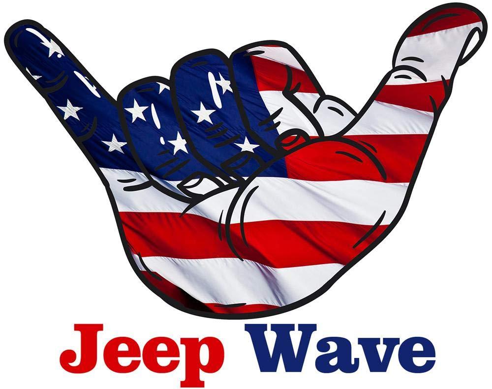 Vital All-Terrain Jeep Wave Vinyl Hand Decal//Sticker JK JKU JL Unlimited Rubicon Sahara White