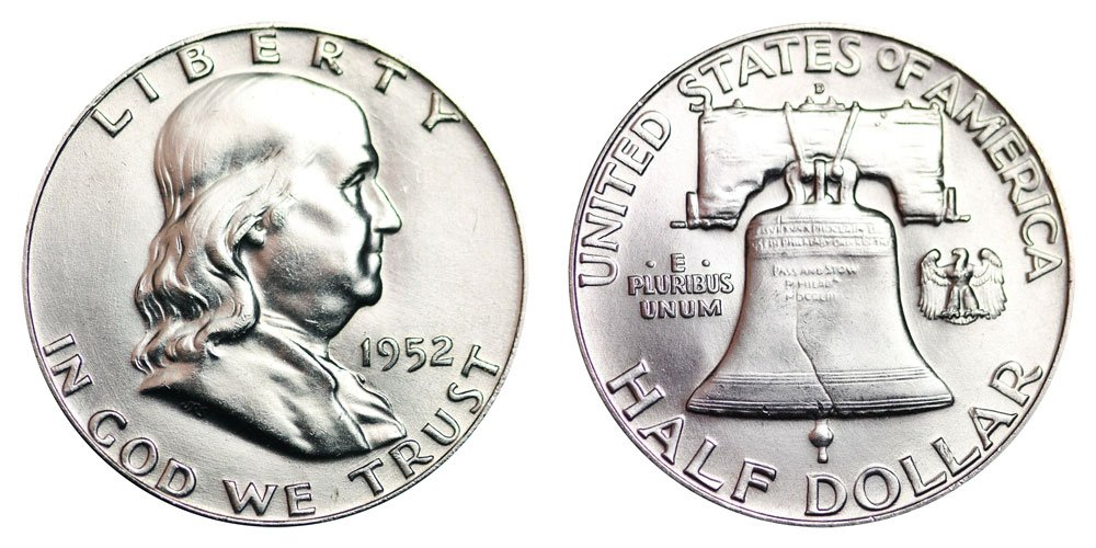 1952-D Franklin Half Dollar Brilliant Uncirculated BU