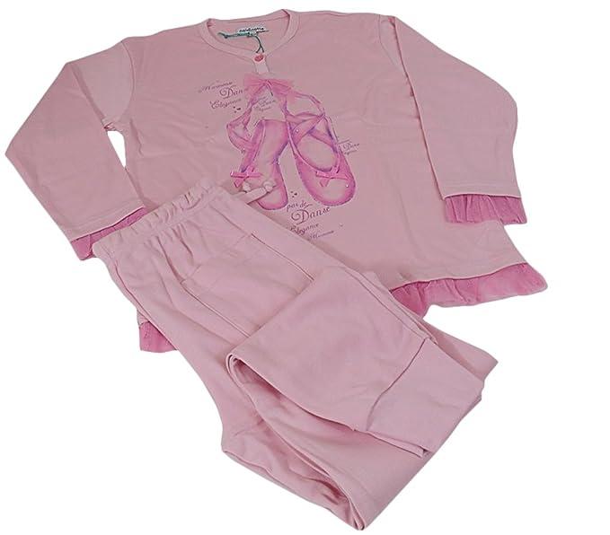 più recente e31dd e0e9c Pigiama bambina Invernale in caldo cotone Noi di Notte rosa ...