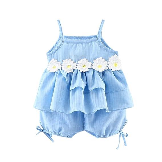 feiXIANG Ropa Infantil recién Nacido bebé niña Suspender sin Mangas ...