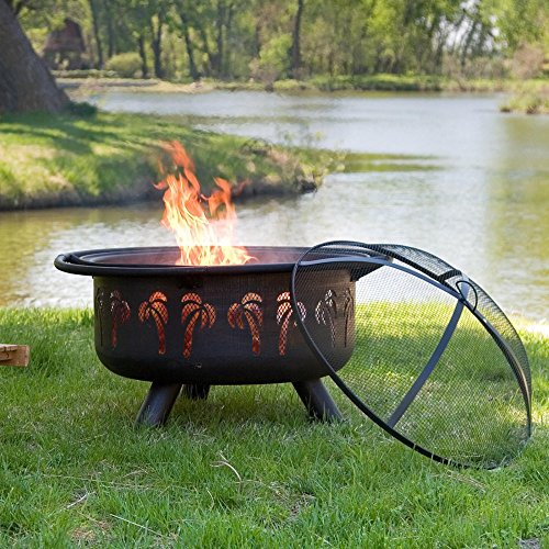 Red Ember Oasis Fire Pit with Grill Grate and FREE Cover