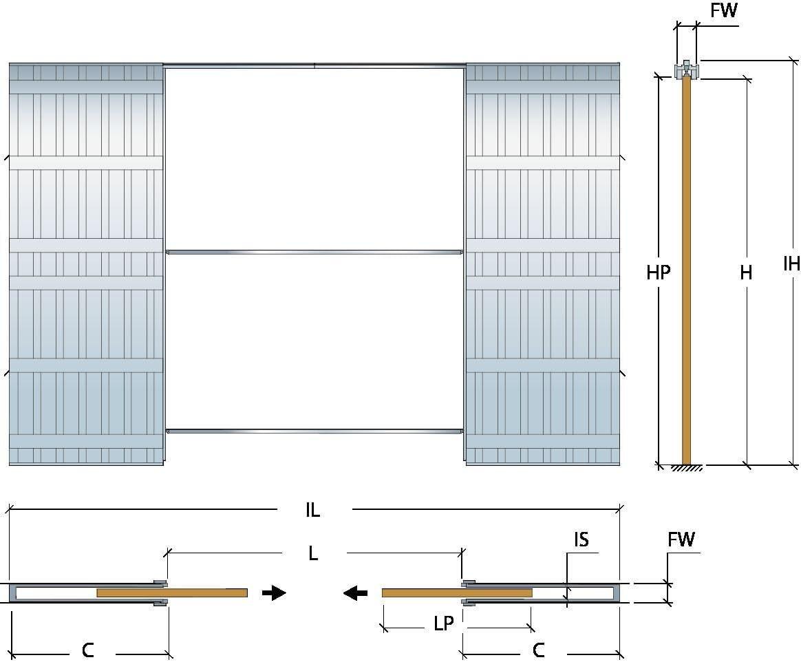 Scrigno doble bolsillo puerta sistema de deslizamiento (ahorro de espacio) montado SL004: Amazon.es: Bricolaje y herramientas