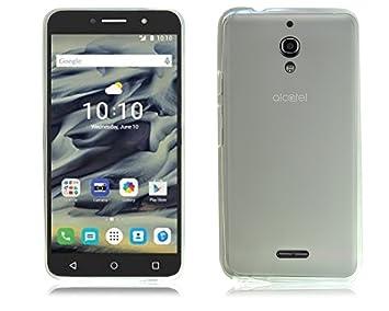 buy online f903f 8c1ff Alcatel Pixi 4 (6 INCH) 4G 9001X Ultra Slim Clear Gel Silicone Rubber Phone  Case Cover + Screen Guard