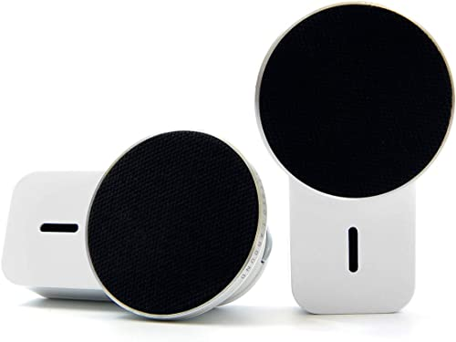 Ampulla MiniS Portable Bluetooth Speakers – 360 Sound TWS Speakers with Built-in Magnets Can be Attached to Any Surface, Built-in Mic. Music Anywhere, Anytime.