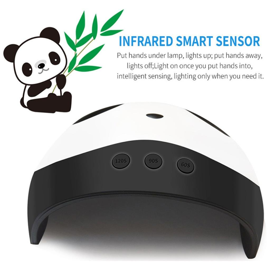 Amazon.com: Honhui Best LED Gel Uñas USB Panda 36W LED UV ...