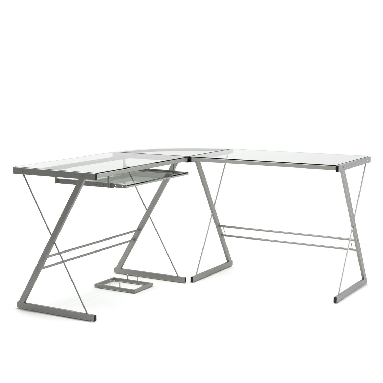 black top product modern aosom glass homcom rakuten workstation computer l office shaped shop desk