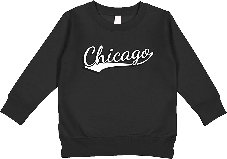 CERTONGCXTS Baby Boys Kids American Chicago Flag ComfortSoft Long Sleeve Shirt