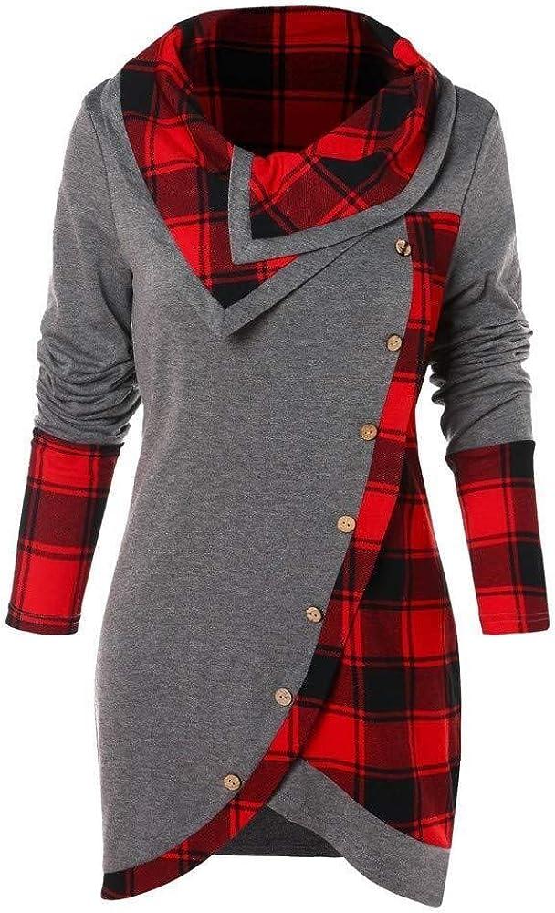 Más Allá del Tamaño Señoras Moda Sólido Fruncido Largo Foldover Ropa de Fiesta Cuello Túnica Tops Blusa Moda Moda Mujer Tops Camisa Camisa Blusa De Gran Tamaño Blusas Tops Streetwear Sudadera con: