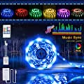 Led Strip Lights Tenmiro 16 4ft Led Lights Sync To Music Led Light Strip Kit With 20 Key Ir Remote Controller Power Supply Rgb 5050 Color Changing Led Strip Home Lighting Kitchen Bedroom Decoration