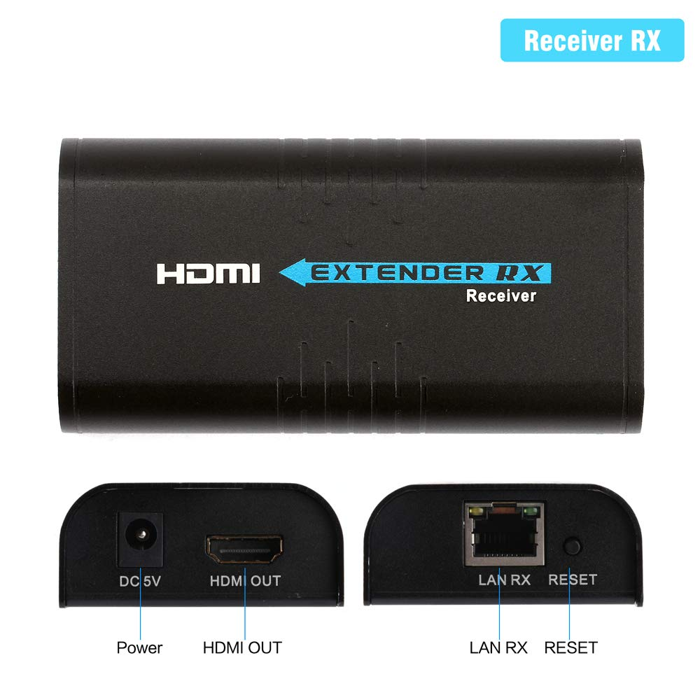 HDMI Extender Over TCP/IP Ethernet/Over Single Cat5 Cat5e Cat6 Cat6e Cat7 Cable Full Hd 1080P Support Sky Box Laptop PC DVD STB PS3/4(373 Receiver RX Only) by EidolonGreen (Image #7)