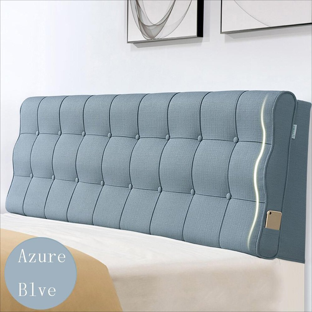 AIDELAI Backrest- Bedside Cushion, Back Cushion, Bedroom Back, Soft Package, Pure Color, 4 Colors That can be Cleaned. (Color : 2#with Headboard, Size : 90x60x10CM)