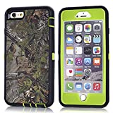 "MOONCASE iPhone 6S Plus Case, [Realtree Camo Series] 3 Layers Heavy Duty Defender Hybrid Soft TPU +PC Bumper Triple Shockproof Drop Resistance Protective Case Cover for Apple iPhone 6 Plus / 6S Plus 5.5"" -Green Tree"