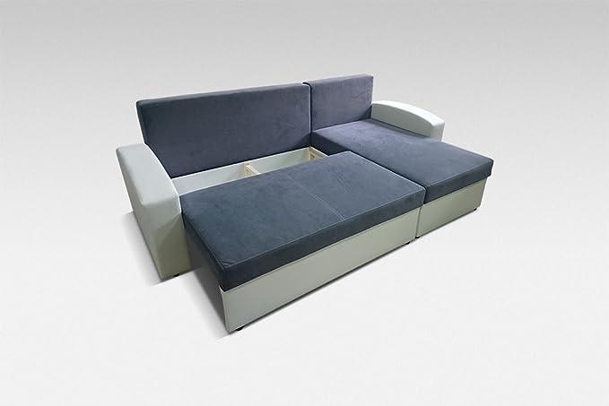Phoenix tamaño Grande Tela y Piel sintética Esquina sofá ...