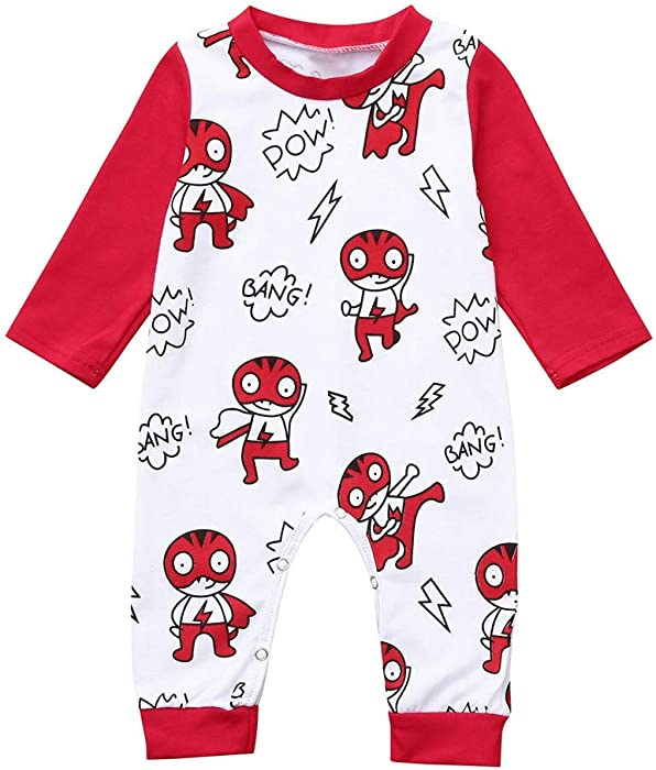 Toddler Baby Boys Rompers Sleeveless Cotton Jumpsuit,Cute Snowman Outfit Autumn Pajamas